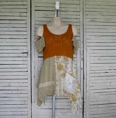 Bordeaux Top S/M, Upcycled Clothing, Upcycled Tunic, Tank-top Tunic, Cut-out Shoulders, Size S/M
