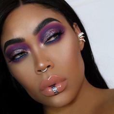 Black Girl Makeup, Sexy Makeup, Full Face Makeup, Kiss Makeup, Beauty Makeup, Beautiful Eye Makeup, Pretty Makeup, Lip Piercing, Piercings