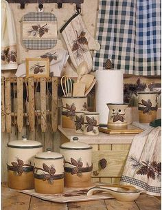 Cabin Accessories | lodge and cabin home pinecone lodge decor kitchen accessories gallery