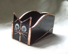 Handmade Stained Glass BOX (Business Card Holder) CAT (BXC30) | Home & Garden, Home Décor, Suncatchers & Mobiles | eBay!