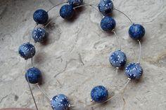 Blaue Fimo Kette