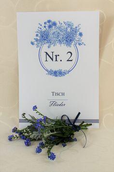 """Tischnummer """"Fleur"""""""