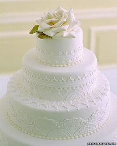 Garden Rose Wedding Cake - Traditional Wedding Cakes - Wedding Cakes - MarthaStewartWeddings.com