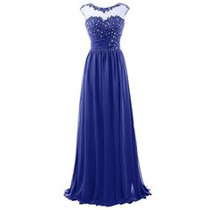 Blevla Cap Sleeve Sequins Lace Appliqued Long Evening Dress Formal Prom Gowns Royal blue US 4 * For more information, visit image link.(This is an Amazon affiliate link)