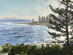 """""""Afternoon at Pemaquid"""" by William B. Hoyt. 6"""" x 8"""" Oil. SOLD  www.maine-art.com"""