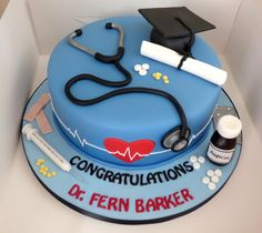 Doctors Graduation Cake Doctor Birthday Pharmacy Nursing