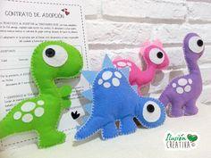 Dinosaurios de fieltro