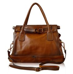 Large Leather Tote BagShopperIpadMacBookBag door ilovebagshop, $129.00