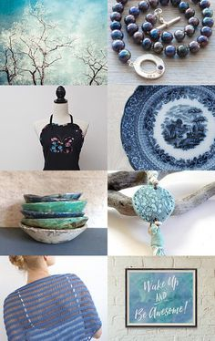 Blue Winter Day by Asta on Etsy--Pinned with TreasuryPin.com