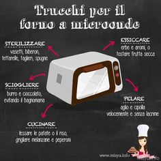 10 useful tricks for the microwave- 10 utili trucchi per il forno a microonde Tricks for the microwave - Casa Mix, Coffee Room, Cooking Dried Beans, Desperate Housewives, Microwave Recipes, Micro Onde, Happy Foods, Thing 1, Baking Tips