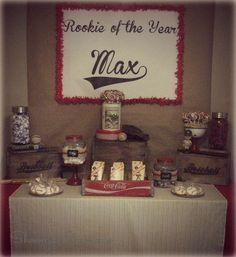 Vintage Baseball Birthday Party Ideas | Photo 2 of 28 | Catch My Party