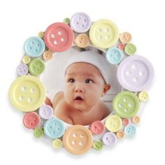"""Baby Aspen """"Cute as a Button"""" Photo Frame - buybuyBaby.com"""