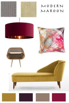Moodpboard ideas for colourful living room decoration