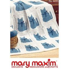 Mary Maxim - Cozy Kitties Afghan Pattern - Afghan Patterns - Patterns - Patterns & Books