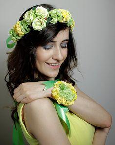 SALE/// Floral Crown Flower Wedding Headband Flower Headpiece on Etsy, £35.08