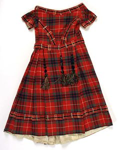 1860s Tartan dress back