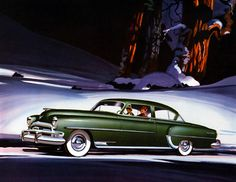 Plan59 :: Classic Car Art :: Vintage Ads :: 1954 Chrysler New Yorker Club Coupe