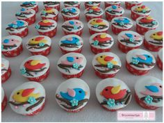 Vogel cupcakes / bird cupcakes