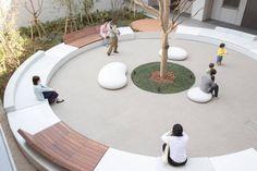 backyard design – Gardening Tips Urban Landscape, Landscape Design, Public Space Design, Public Spaces, Outdoor Office, Flash Design, Parking Design, Street Furniture, Landscape Architecture