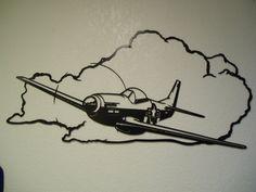 P51 Mustang Metal Wall Art von SunsetMetalworks auf Etsy