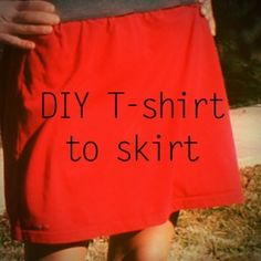 Old T-shirt to Skirt {Who Cares if its Winter}