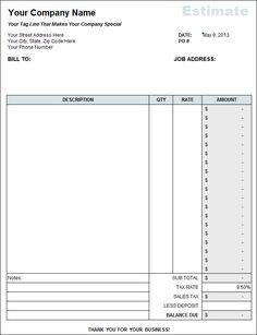 Cleaning Service Quotation Sample Free Quote Template Excel - How to make a invoice free for service business