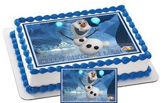 FROZEN OLAF CHARACTER Edible Cake & by CakeTopperSpecialist