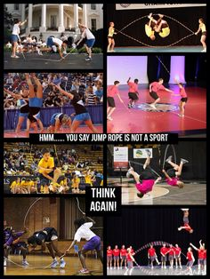 Lol!! So true! When people ask what sport I play, of course I say competitive jump rope. And they always say. Like I said what sport do u play. Like this pin if you agree jump rope is a sport.