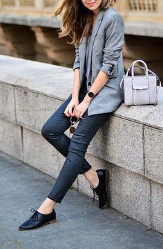 style oxford shoes with blazers