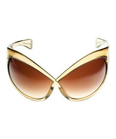 Look what I found on #zulily! Gold & Brown Crisscross Sunglasses by Tom Ford #zulilyfinds
