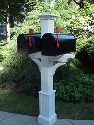 double mailbox designs. Cedar Mailbox Post Is Made In The USA. Double Designs E