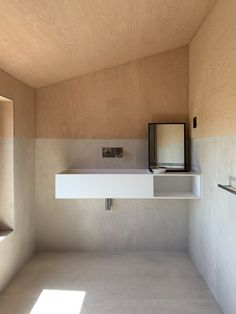 Image 16 of 33 from gallery of Houses Etosoto Cabo Espichel / Studio Combo. Photograph by Guillaume Guerin Mini Clubman, Cabo Espichel, Derelict House, Plywood Panels, Sustainable Practices, Cabins And Cottages, Heating And Cooling, Studio, New Technology