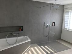 Carameo mineralischer Putz für fugenlose Bäder und Spachtelböden. Mit Carameo gestaltest du Bad und Boden fugenlos. Auch auf alten Fliesen und im Nassbereich.