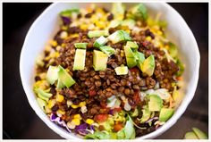 lentil tacos, lentil taco salad, taco salad, lentil recipes, winter salads, butter lettuce, a meatless mess