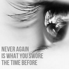 never again is what you swore the time before stitches