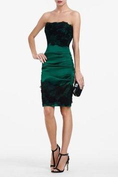 ShopStyle: Natalya Strapless Lace Dress