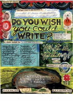 "Writing inspiration; could have kids create something like this for what they think ""writing"" is"