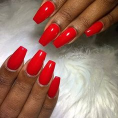Different Nail Designs, Red Nail Designs, Acrylic Nail Designs, Red Acrylic Nails, Matte Nails, Red Nails, Holiday Nails, Christmas Nails, Geometric Nail