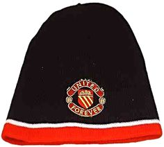 United for Ever Black Beanie Hat with United for Ever Crest