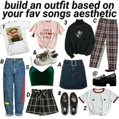 Comment your outfit ; Quirky Fashion, Retro Fashion, Teen Fashion Outfits, Cool Outfits, Fashion Catalogue, College Outfits, Aesthetic Clothes, Vintage Outfits, My Style