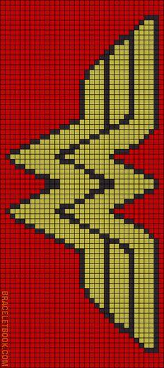 Alpha Friendship Bracelet Pattern #2455 - BraceletBook.com