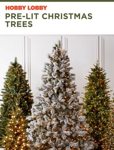 Deck the halls from floor to ceiling with our selection of pre-lit Christmas trees.