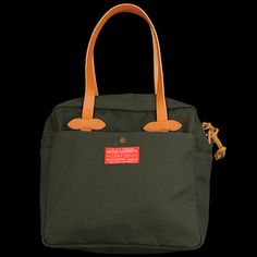 UNIONMADE - filson - Filson Red Label Zippered Tote Bag in Olive