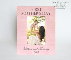 FIRST MOTHER'S DAY Gift to Mom Picture Frame by HelloGorgeousDecor
