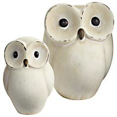 Pier 1 Ceramic Owls - Part of my owl collection.