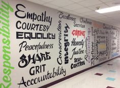 The Corner on Character, for engaging and authentic character-development, integration and infusion ideas and activities. Principal Office Decor, High School Principal, Counseling Bulletin Boards, Counseling Activities, Classroom Door, Classroom Ideas, Counselor Office, Library Boards, School Murals