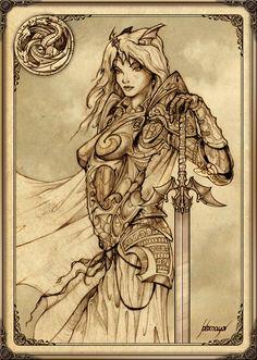 RHAENYS TARGARIEN - La reina Rhaenys Targaryen fue la segunda hija de Lord Aerion Targaryen y Lady Valaena Velaryon. Tuvo una hermana mayor, Visenya, y un hermano, Aegon, con quien se casó. Durante la Guerra de la Conquista, Rhaenys montó a su dragón Meraxes.