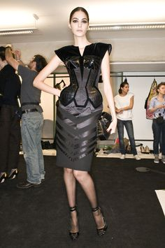 Jean Paul Gaultier at Couture Fall 2009 (Backstage)