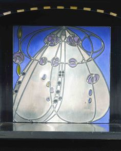 Stained Glass from Hill House Writing Cabinet, Helensburg, Scotland, UK / Charles Rennie Mackintosh (1868-1928)