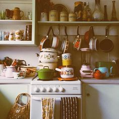 It's soup weather. flashback to a prettier kitchen of mine. Kitchen Dining, Kitchen Decor, 70s Kitchen, Humble Abode, Cozy House, Decoration, Living Spaces, Sweet Home, Room Decor